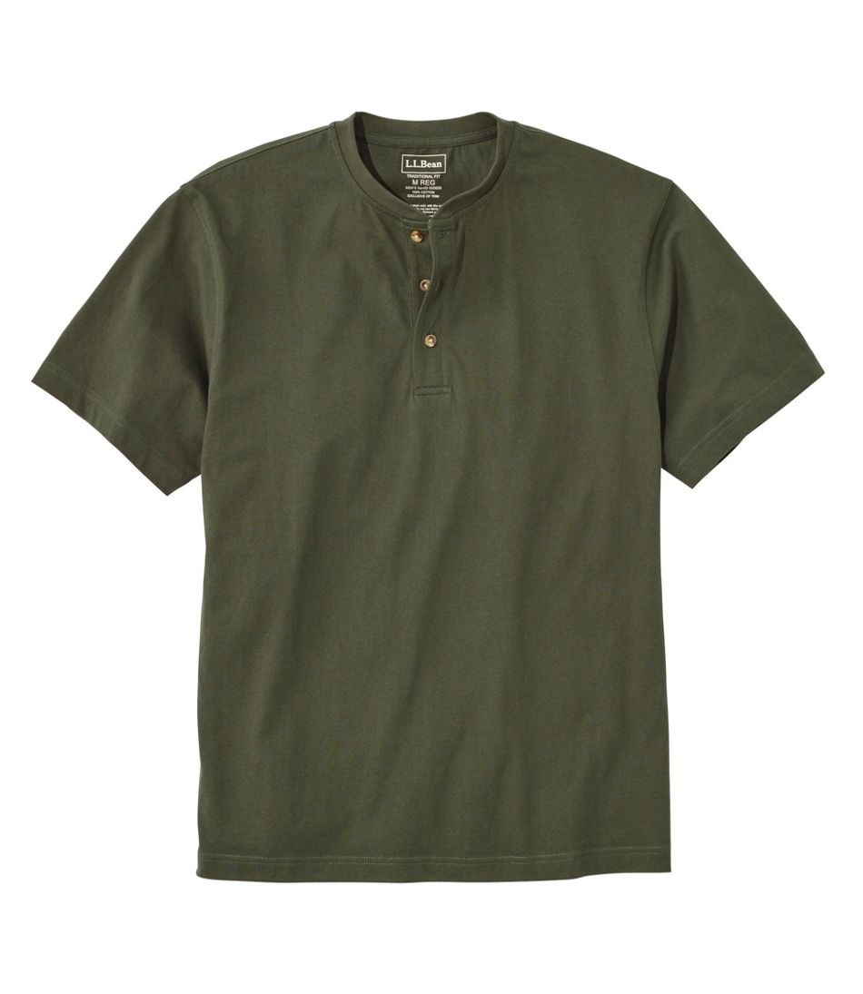 Carefree Unshrinkable Tee, Traditional Fit, Short-Sleeve Henley