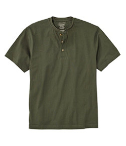 Carefree Unshrinkable Tee, Traditional Fit, Henley