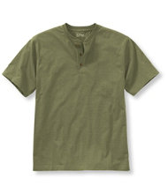 Carefree Unshrinkable Tee, Traditional Fit Short-Sleeve Henley