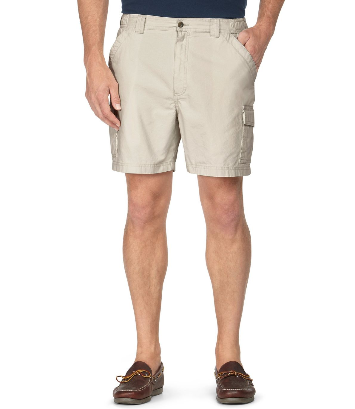 "Men's Tropic-Weight Cargo Shorts, Comfort Waist 6"" Inseam"