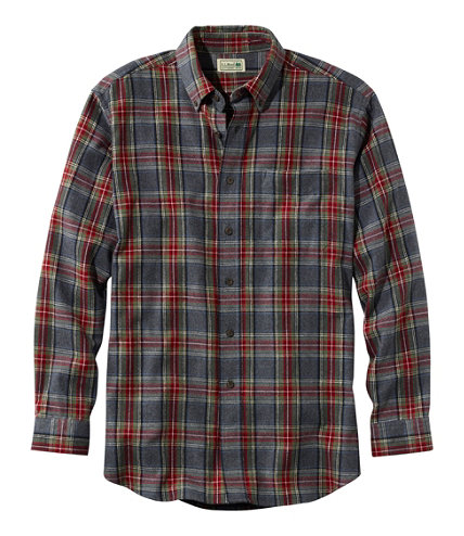 men 39 s scotch plaid flannel shirt traditional fit free