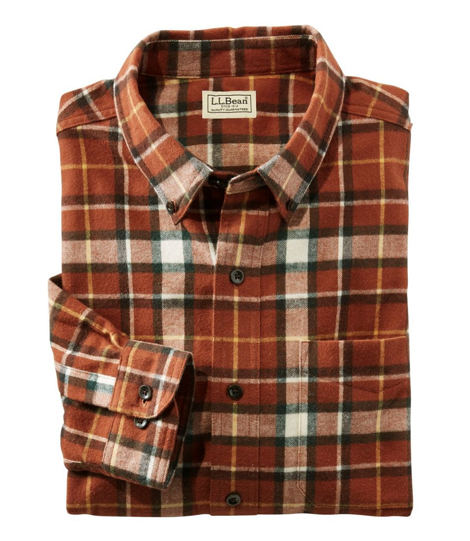 Men S Scotch Plaid Flannel Shirt Traditional Fit