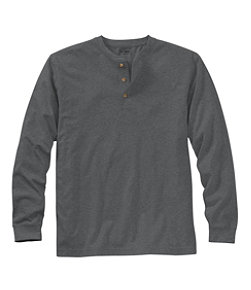 Carefree Unshrinkable Tee, Traditional Fit, Long-Sleeve Henley