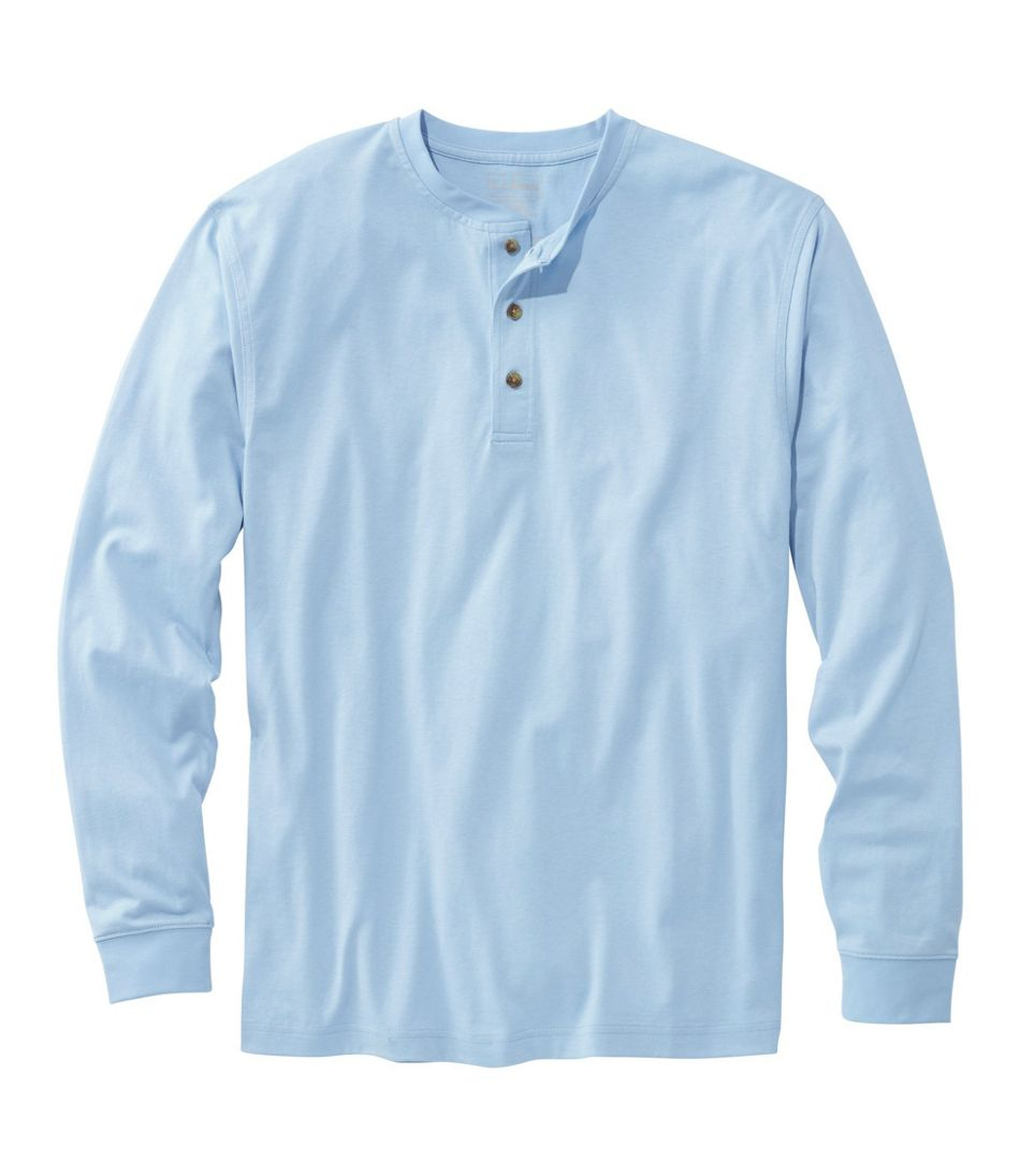 bd05fd725d4a Men's Carefree Unshrinkable Tee, Traditional Fit, Long-Sleeve Henley