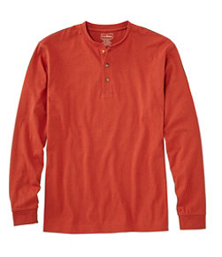 Men's Carefree Unshrinkable Tee, Traditional Fit, Long-Sleeve Henley