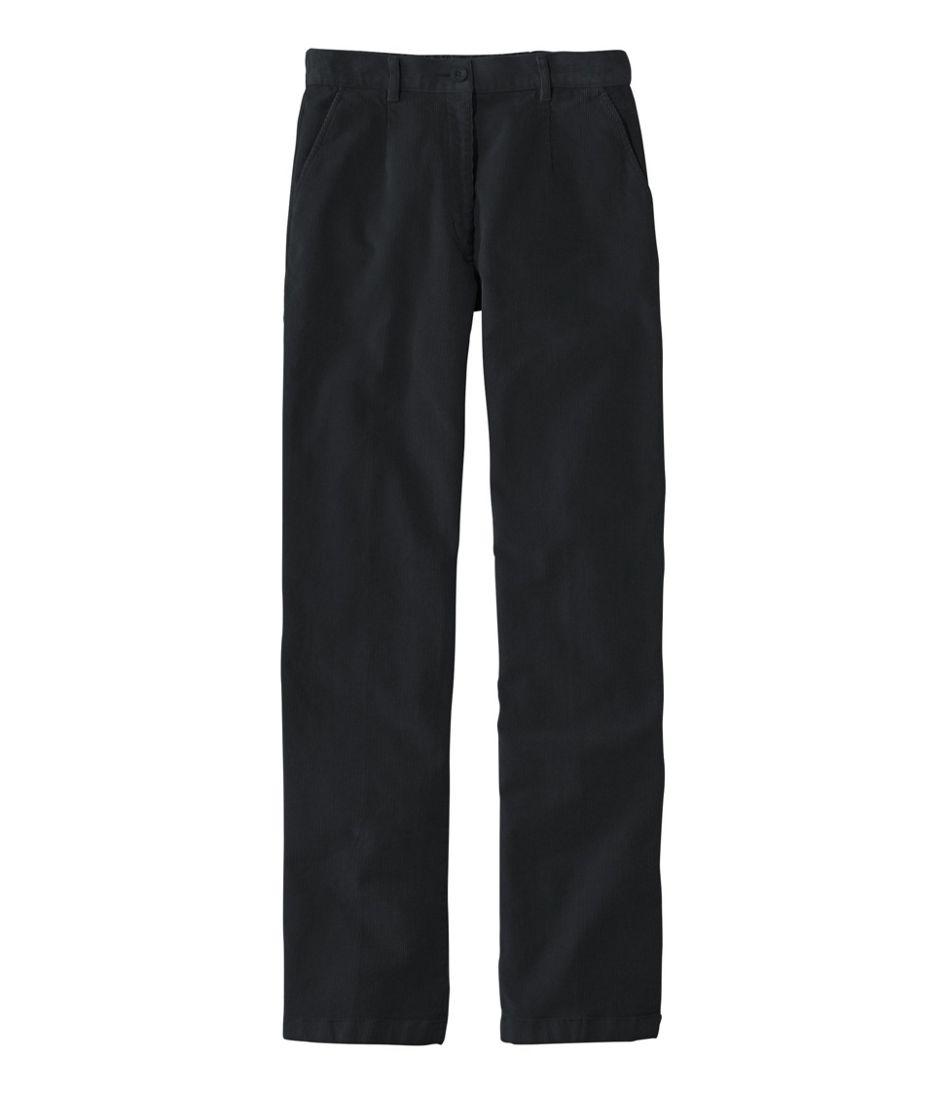 Women's Stretch Bayside Corduroys, Plain Front Comfort Waist