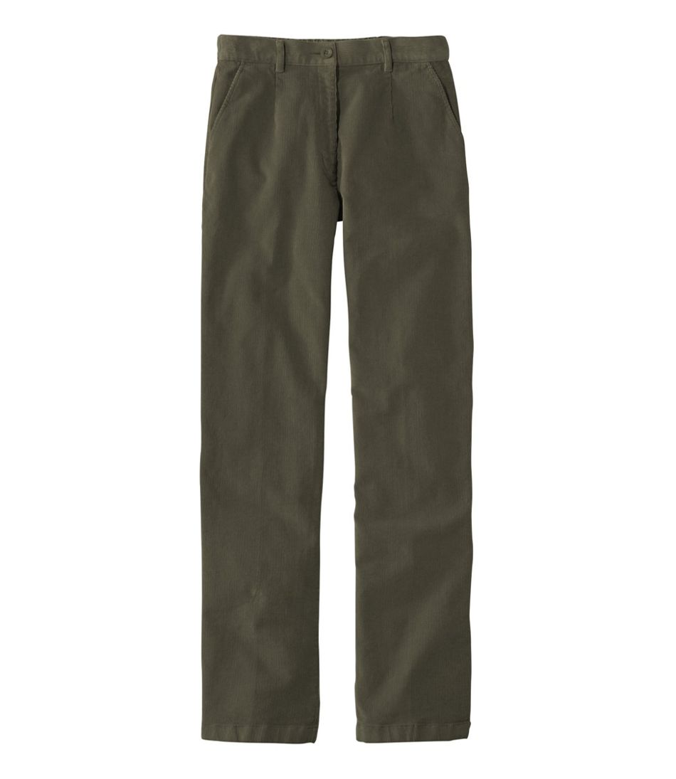 Women's Stretch Bayside Corduroys, Plain Front Comfort Waist