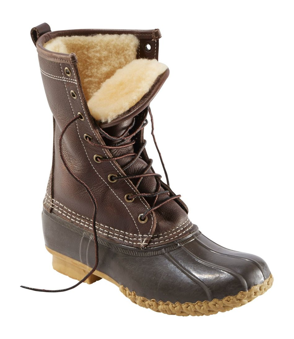 """Women's Bean Boots, 10"""" Shearling-Lined"""