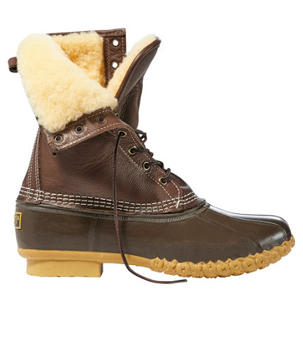 Men's Bean Boots by L.L.Bean, 10 Shearling-Lined | Free Shipping ...