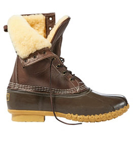 "Men's Bean Boots, 10"" Shearling-Lined"