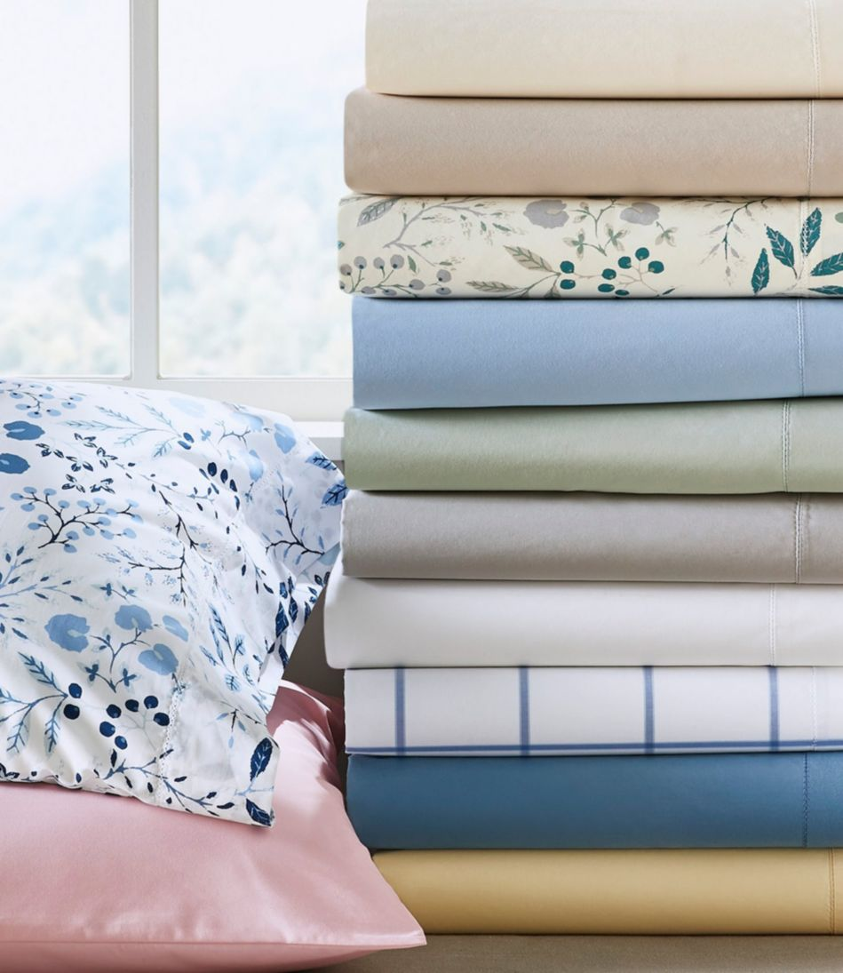 280-Thread-Count Pima Cotton Percale Sheet, Flat