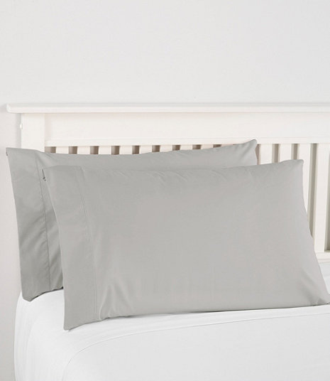 280-Thread-Count Pima Cotton Percale Pillowcases, Set of Two