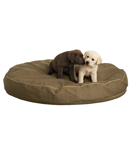Premium Denim Dog Bed Set Round
