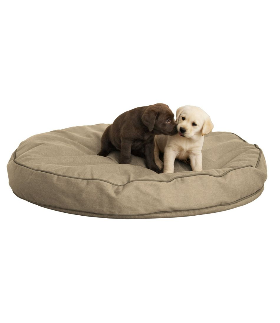 Premium Denim Dog Bed Set, Round