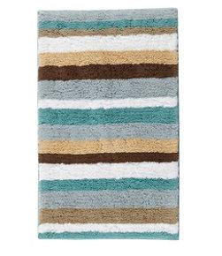 Premium Cotton Bath Mat, Multistripe