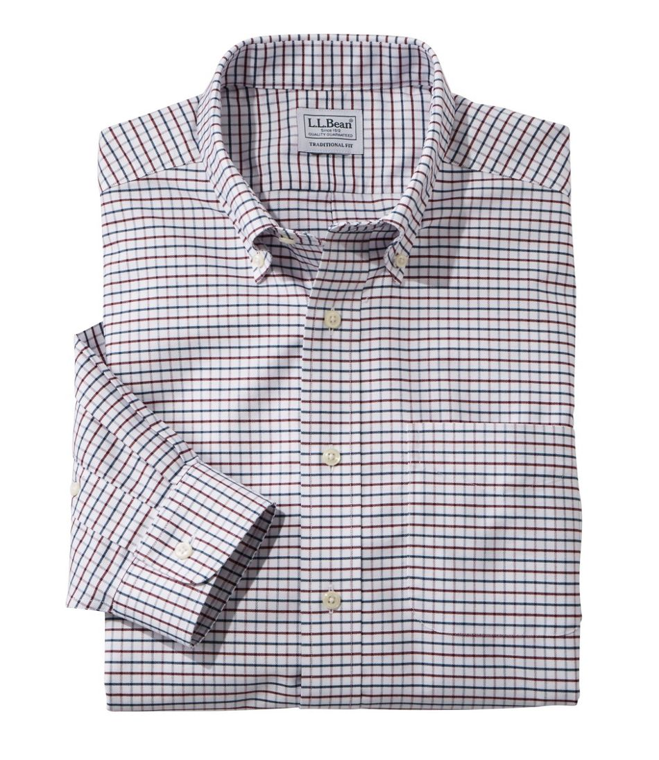 men s wrinkle free classic oxford cloth shirt traditional fit