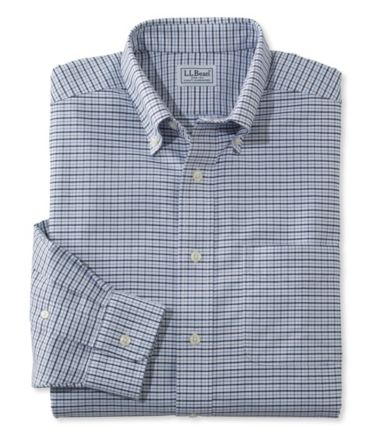 Wrinkle-Resistant Classic Oxford Cloth Shirt, Traditional Fit Tattersall