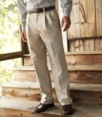 Wrinkle-Free Double L® Chinos, Natural Fit Hidden Comfort Pleated