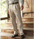 Men's Wrinkle-Free Double L® Chinos, Natural Fit Hidden Comfort Pleated