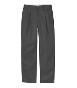 Men's Wrinkle-Free Double L Chinos, Natural Fit Hidden Comfort Pleated
