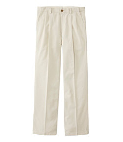 Wrinkle-Free Double L Chinos, Natural Fit Hidden Comfort Pleated