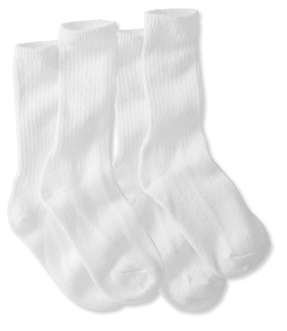 Men's Cotton Crew Socks, Two-Pack