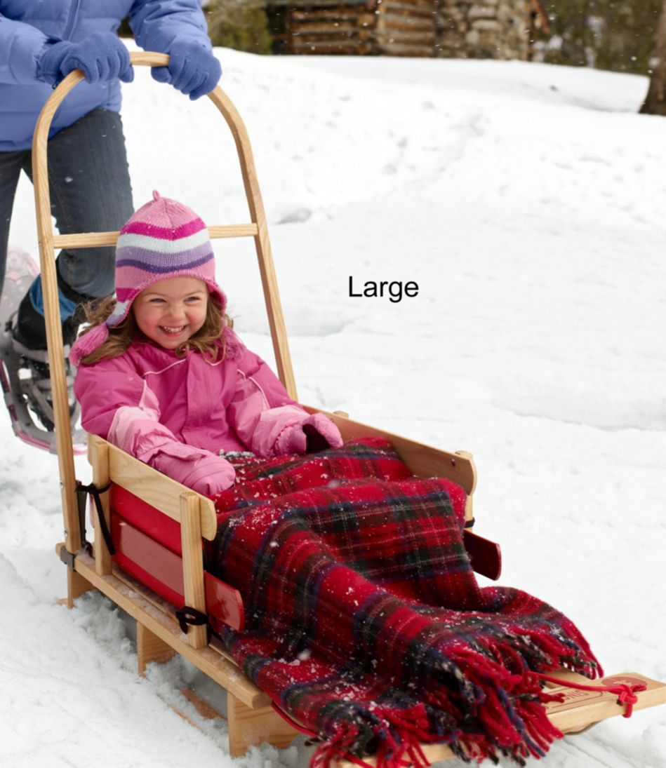 Kids' Pull Sled and Cushion Set with Push Handle