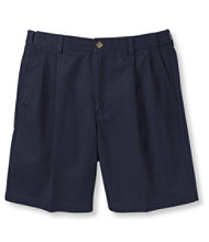 "Wrinkle-Free Double L Chino Shorts, Natural Fit Pleated Hidden Comfort 6"" Inseam"