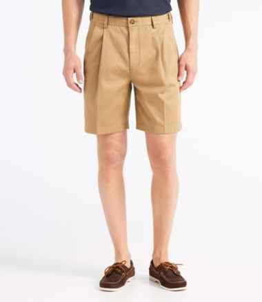"Men's Wrinkle-Free Double L® Chino Shorts, Natural Fit Pleated Hidden Comfort 8"" Inseam"