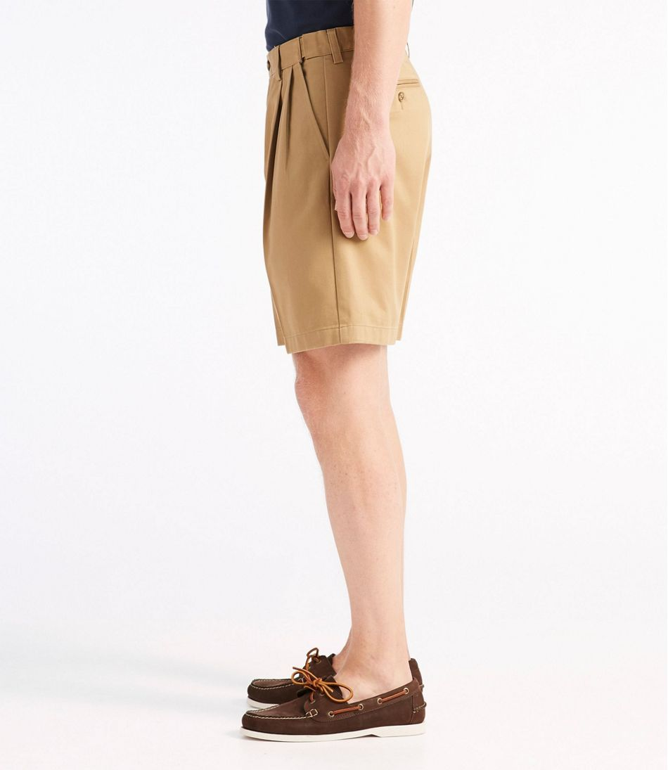 "Wrinkle-Free Double L® Chino Shorts, Natural Fit Pleated Hidden Comfort 8"" Inseam"
