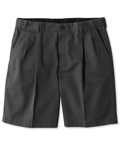"Wrinkle-Free Double L Chino Shorts, Natural Fit Pleated Hidden Comfort 8"" Inseam"