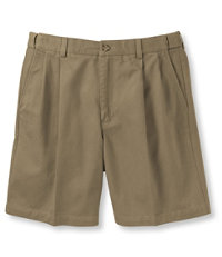 Wrinkle-Free Double L Chino Shorts, Natural Fit Pleated Hidden Comfort 8