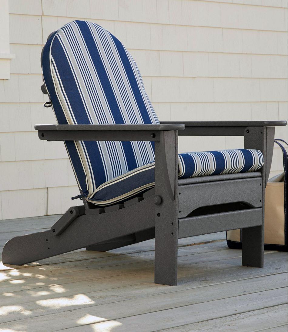 Casco Bay Adirondack Chair Seat and Back Cushion, Stripe