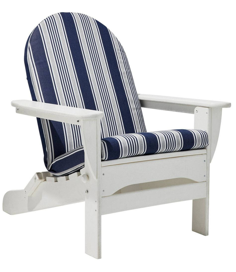 Casco Bay Adirondack Chair Seat and Back Cushion, Stripe