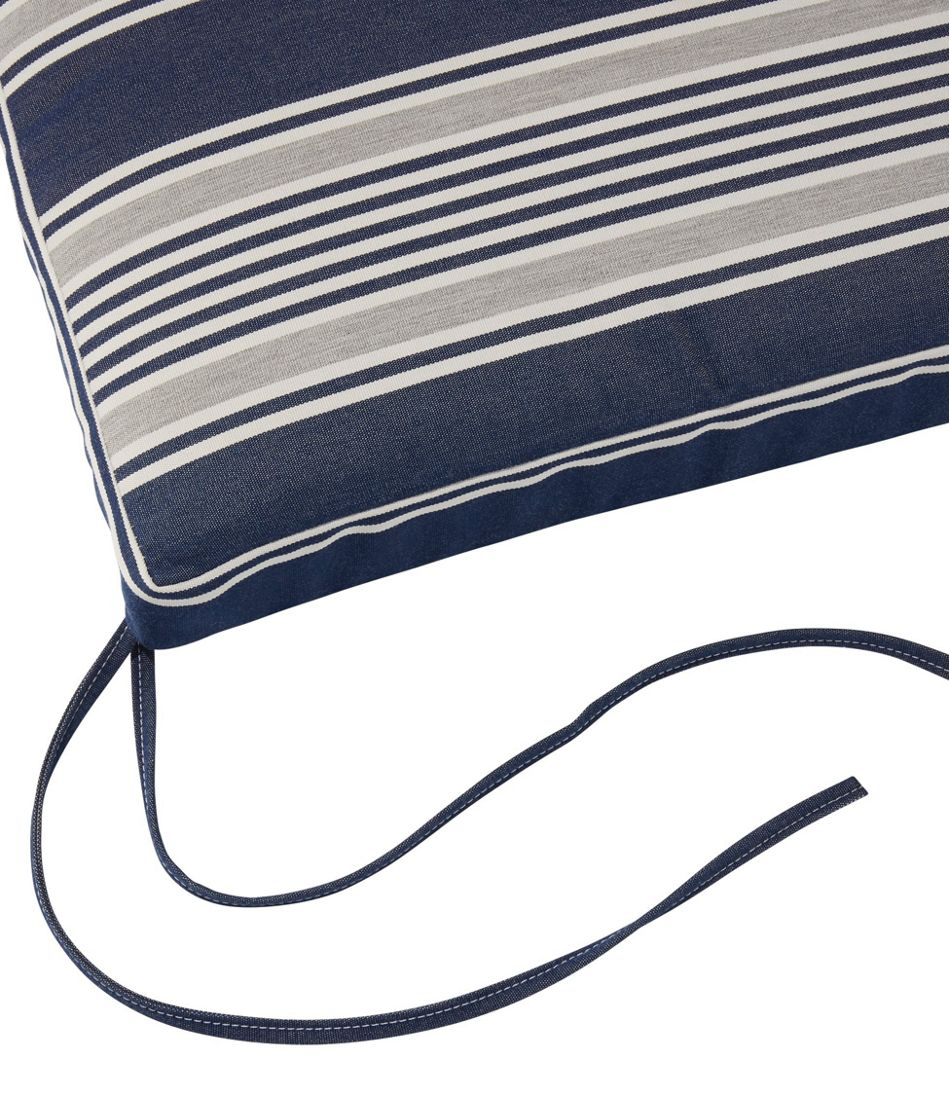 Casco Bay Cushion for All-Weather Armless/Folding Chair, Stripe