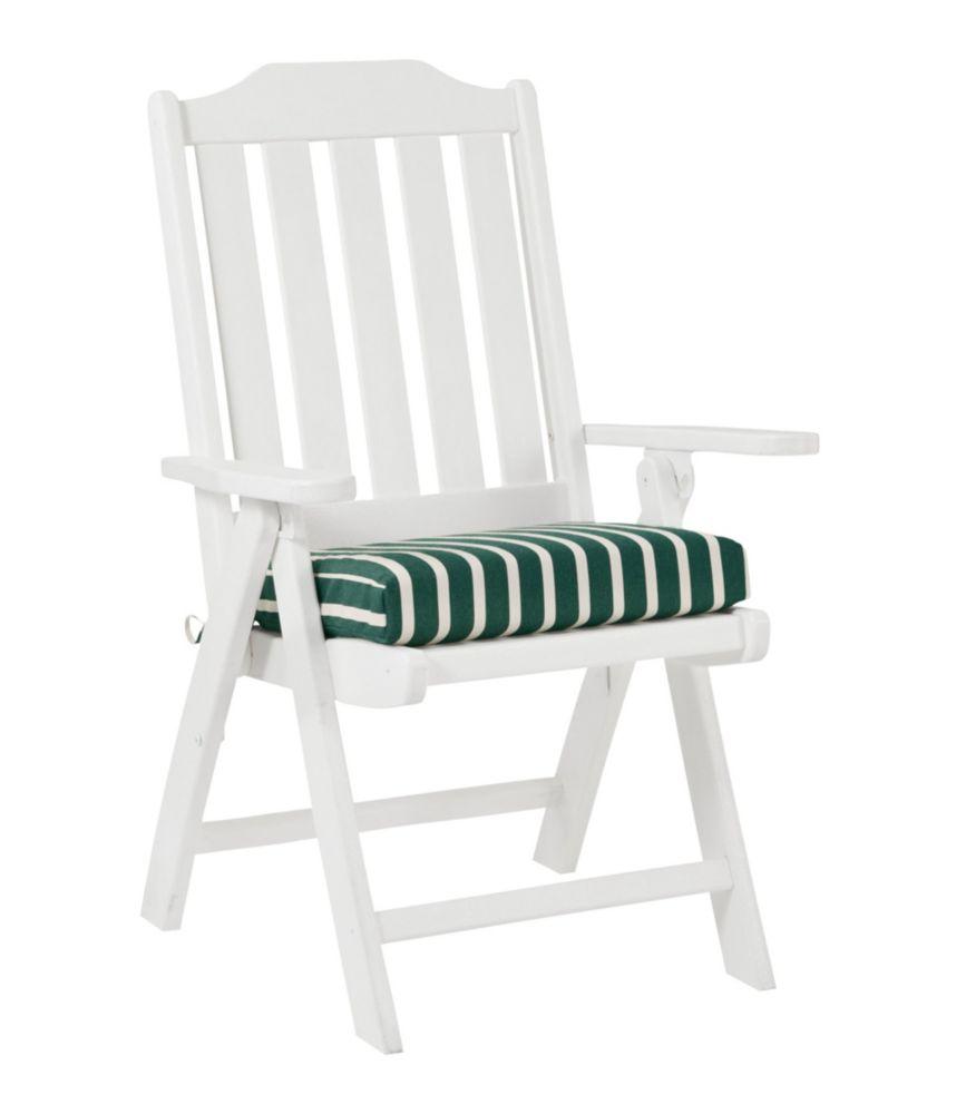 Casco Bay Cushion For All Weather Armless/Folding Chair, Stripe