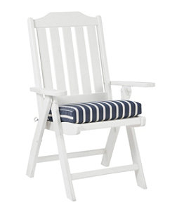 Casco Bay Cushion for All-Weather Armless/Folding Chair, Stripe