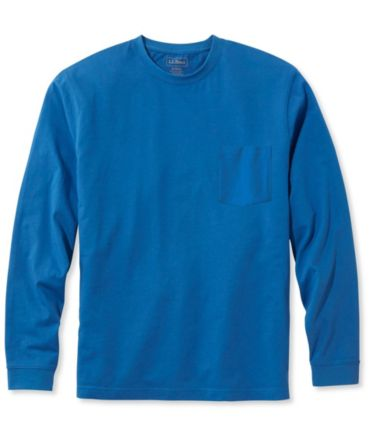Carefree Unshrinkable Tee with Pocket, Traditional Fit Long-Sleeve
