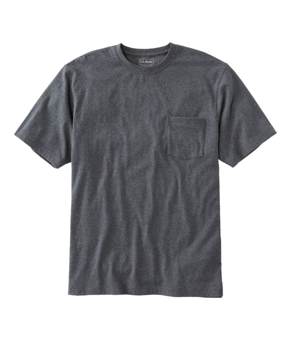 Carefree Unshrinkable Tee with Pocket, Traditional Fit Short-Sleeve
