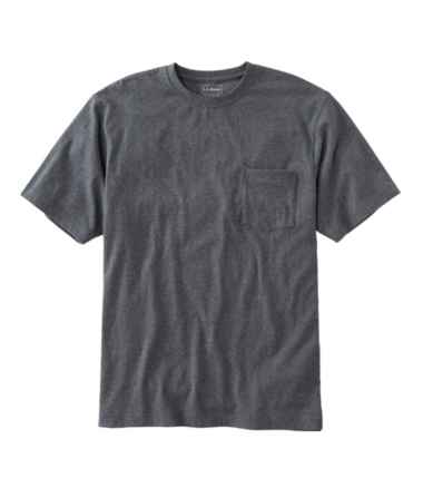 Men's Carefree Unshrinkable Tee with Pocket, Traditional Fit