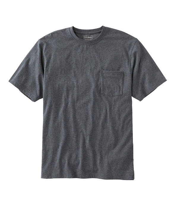 Men's Carefree Unshrinkable Shirt with Pocket, Charcoal Heather, large image number 0