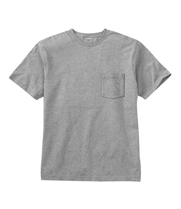 Men's Carefree Unshrinkable Shirt with Pocket, Gray Heather, large image number 0