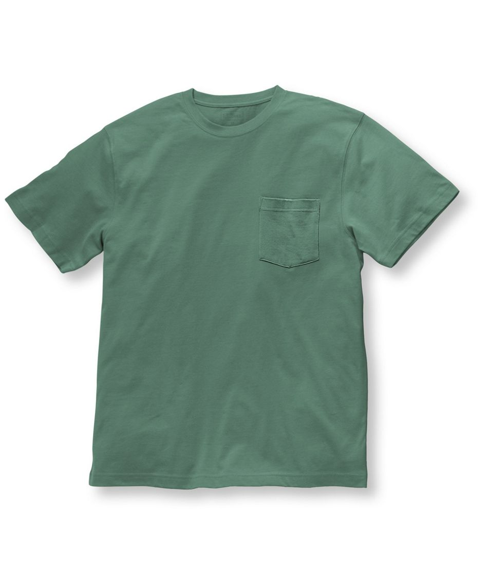 Carefree Unshrinkable Tee with Pocket, Traditional Fit, Short-Sleeve