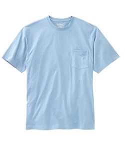 Carefree Unshrinkable Tee with Pocket, Traditional Fit