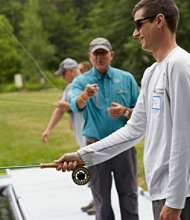 Introduction to Fly-Casting Course at L.L.Bean's Private Pools in Freeport, Maine
