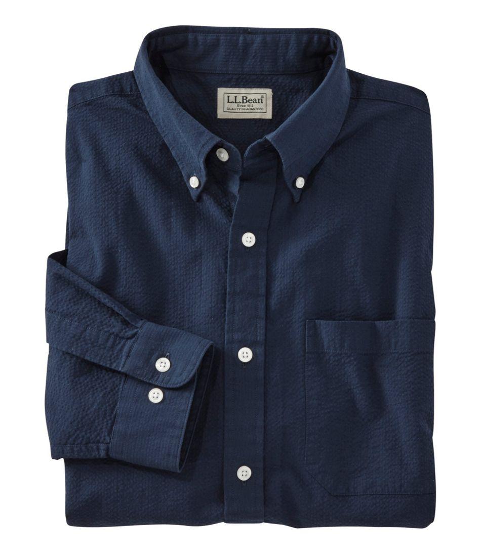 673f106d666 Men's Seersucker Shirt, Traditional Fit Stripe