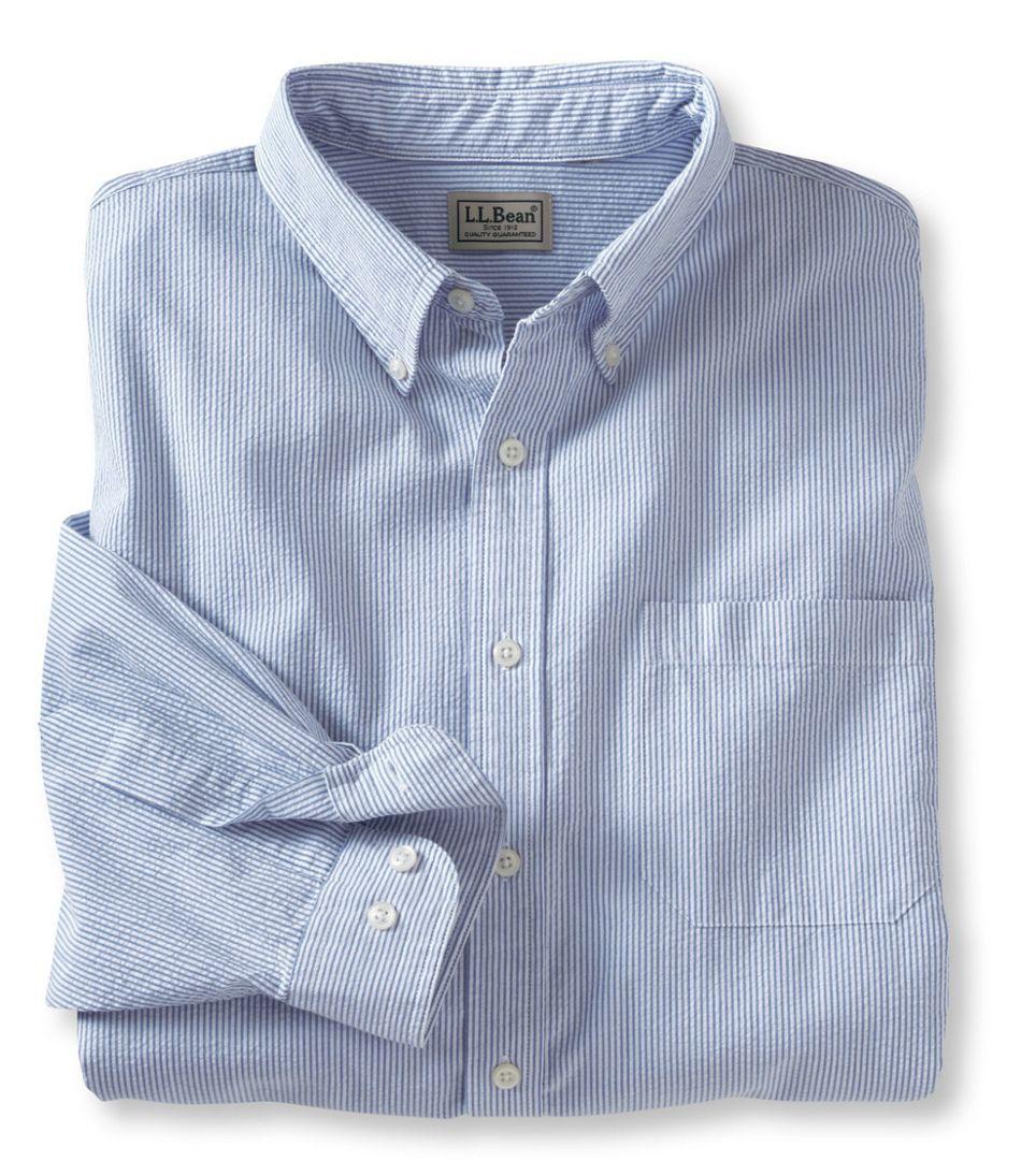 Men's Seersucker Shirt, Traditional Fit Stripe