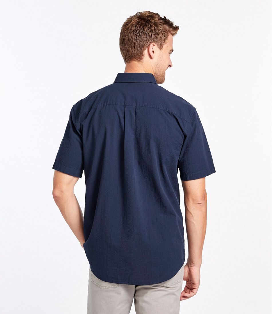 Men's Seersucker Shirt, Traditional Fit Short-Sleeve Stripe