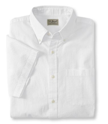 Seersucker Shirt, Traditional Fit Short-Sleeve Stripe