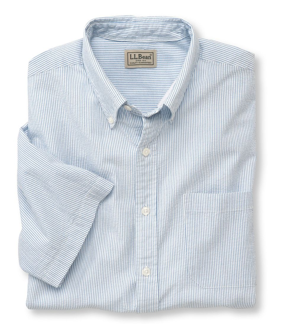 Men's Seersucker Shirt, Traditional Fit Short-Sleeve Stripe